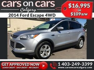 2014 Ford Escape 4WD w/Ecoboost, Backup Cam $109B/W INSTANT APPR