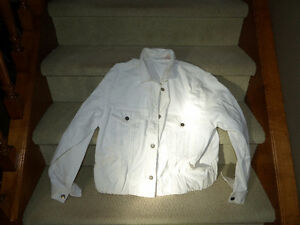 Ladies white jean jacket