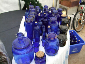 BLUE COBALT GLASS Belleville Belleville Area image 1