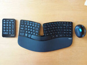 Microsoft Sculpt Ergonomic Keyboard, Number Pad & Mouse