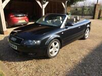 AUDI A4 A4 CABRIOLET 1.8 T SPORT 2004 Petrol Manual in Black