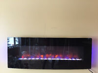 """New 48 """" Electric Wall Mount Fireplace"""