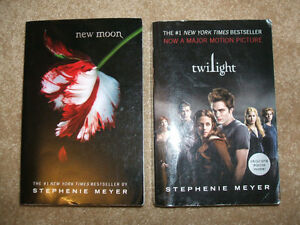 New Moon and Twilight books