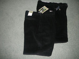 2 Pair New Black Cords Size 34