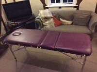Massage bed - folding