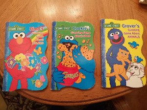 Sesame Street guessing game board books