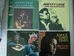 Small country LP records collection