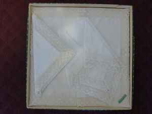 Vintage Irish Linen Handkerchief Set