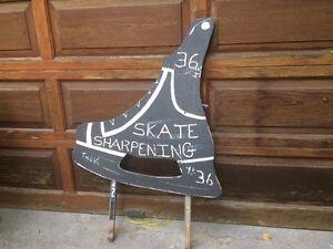 """Vintage sign skate sharpening  sign 28"""" x 26"""""""