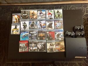 PlayStation 3 with 3 controller and tones of games