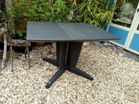 Large Garden Outdoor Patio Table, collapsible drop leaf and made from weatherproof plastic