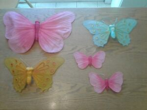 5-piece Butterfly decorations