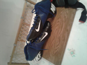 Lacrosse equipment and size 15 cleats
