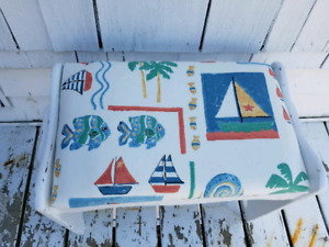Nautical Cottage Distressed Painted Bench