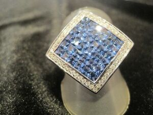 4.5 CARAT SAPPHIRE & DIAMOND RING. 1/4 OF APPRAISED VALUE!!!