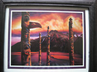 "CARL CHAPLIN...WEST COAST ARTIST PICTURE...""TOTEMS"" FOR SALE...."