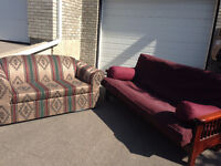 Futon Couch/Bed and Loveseat