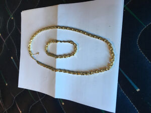 Matching bracelet and chain