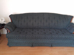 Green recroom couch