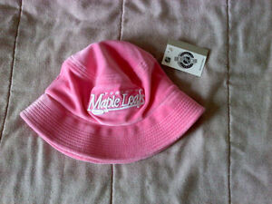 Pink Toronto Maple Leafs bucket hat