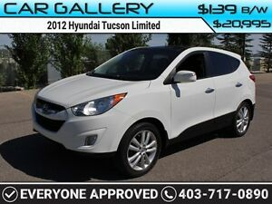 2012 Hyundai Tucson Limited w/Leather, Sunroof, Navi $139B/W QUI