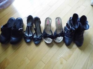 lot of shoes and boots