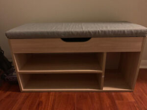Shoe Rack Bench with Storage Space; hardly used || $75 OBO