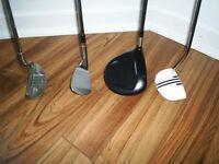 bâtons de golf