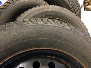 Tires on steel wheels (4x) was on Subaru Outback 2009 225/60R/16 West Island Greater Montréal image 3