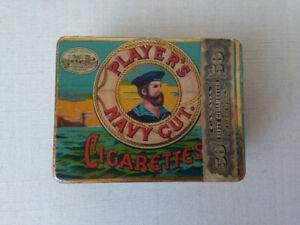 Boite métallique cigarette Players Navy 1920