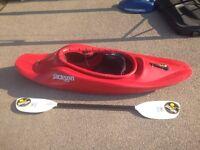 Jackson Kayak Fun 1.5 Kids Whitewater Kayak & Werner Paddle