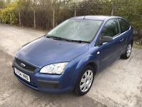 2005 Ford Focus MK2 1.4 Lx, 3 Door, Blue, 90k Miles, FSH, 12 MOT, X2 Keys