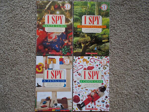 "4 ""I SPY"" books-find hidden items-Scholastic London Ontario image 1"