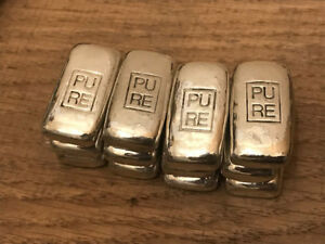 1 oz Hand Poured Silver Bar (999 Fine Silver Bullion)