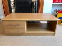 Oak Style TV Cabinet with Drawer