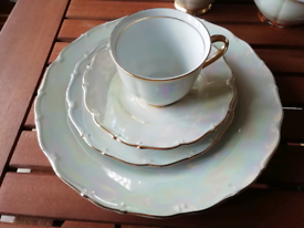 Vintage tea set. Over 50 years old. Very unusual colour. VGC.