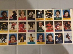 3 panels of 1974-75 Loblaws NHL Action Stamps incl Potvin rookie
