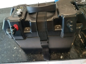 Bison battery box, 110 Amp agm battery and ctek charger. Camping