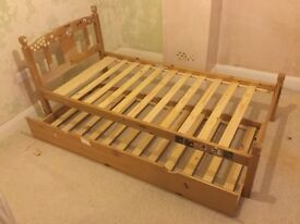 Julian Bowen full size single bed with matching trundle