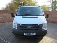 FORD TRANSIT 350 DOUBLECAB 1 WAY TIPPER LWB 115 BHP CAGE TIPPER 6 SEATS