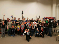 Calgary Nerf Wars game event.  5th june