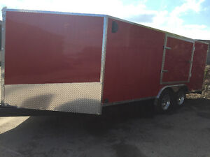 Canadian Made 8.5' x 16' V-Nose Cargo Trailer with Jump Door