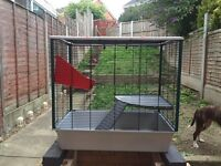 Large delux rat/hamster cage.