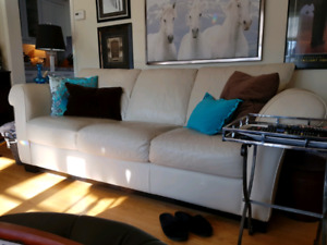 Italian Leather Sofa Couch