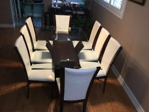 LARGE DINING TABLE SET FOR 8 GUESTS - MAKE AN OFFER