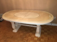 DINING TABLE FOR SALE USED WITH CHEST