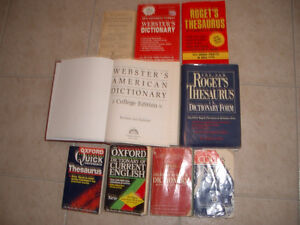 Many English and French Dictionaries and Thesaurus