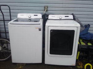 Hardly used one yr. old washer and dryer
