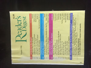 Readers Digest... many issues as far back as 1986