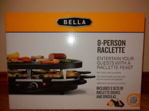 BELLA 8 PERSON RACLETTE 1200W BRAND NEW